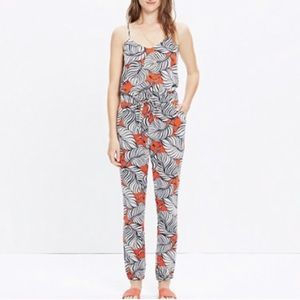 madewell bondi jumpsuit in vintage palm